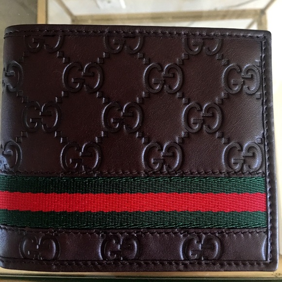 95396e9ed274 Gucci Accessories | Brown Ssima Signature Web Wallet | Poshmark